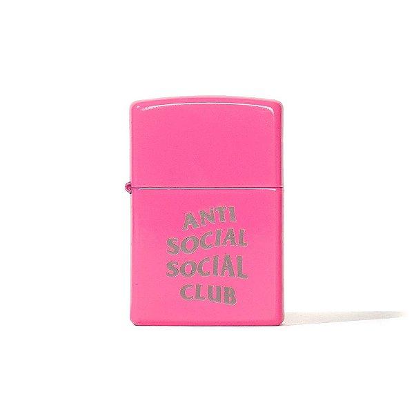 """!ANTI SOCIAL SOCIAL CLUB x ZIPPO - Isqueiro """"Rosa"""" -NOVO-"""