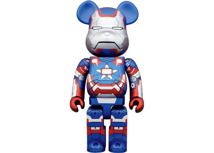 MEDICOM TOY x BEARBRICK - Iron Man 3 Iron Patriot 400%