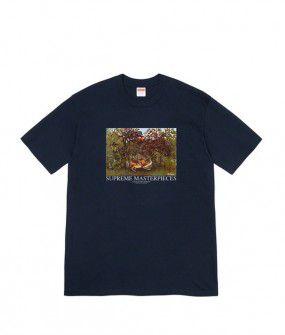 "SUPREME - Camiseta Masterpieces ""Azul Marinho"" -NOVO-"
