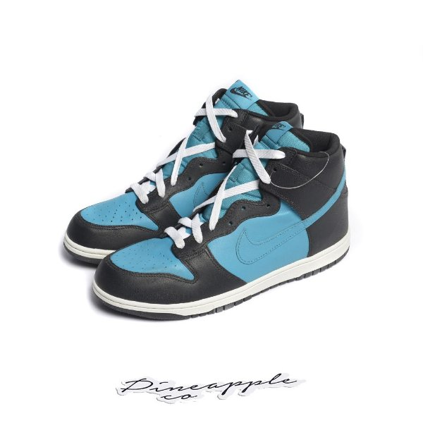 "Nike Dunk High Made in Brazil ""Glass Blue/Black-White"" (2009) -NOVO-"