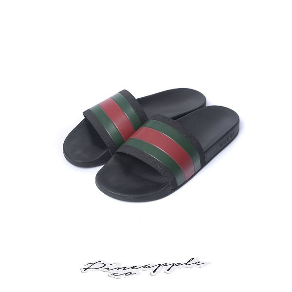 "GUCCI - Chinelo Rubber ""Black"""