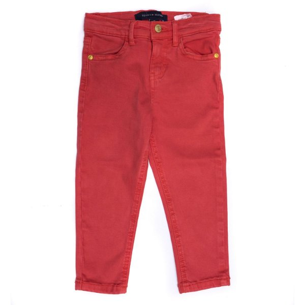 "TOMMY HILFIGER - Calça Jeans ""Vermelho"" (Infantil) -NOVO-"