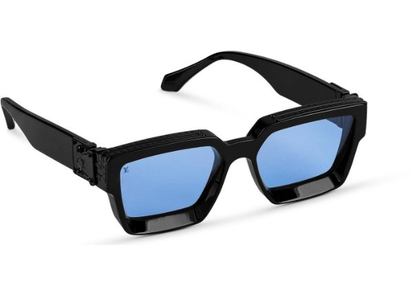 "LOUIS VUITTON - Óculos 1.1 Millionaires ""Preto/Azul"" -NOVO-"