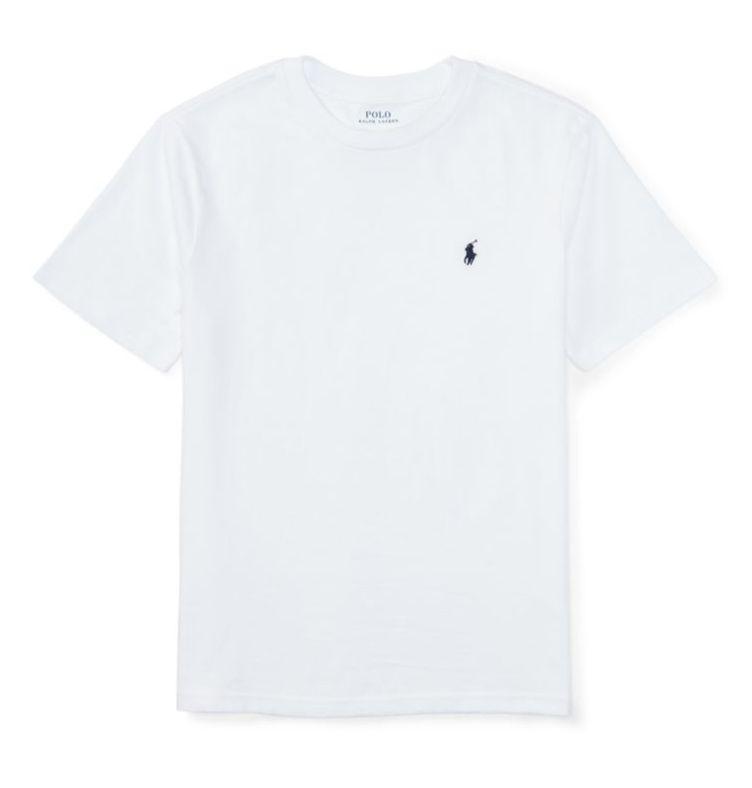 "POLO RALPH LAUREN - Camiseta Jersey Crewneck Kids ""Branco"" (Infantil) -NOVO-"