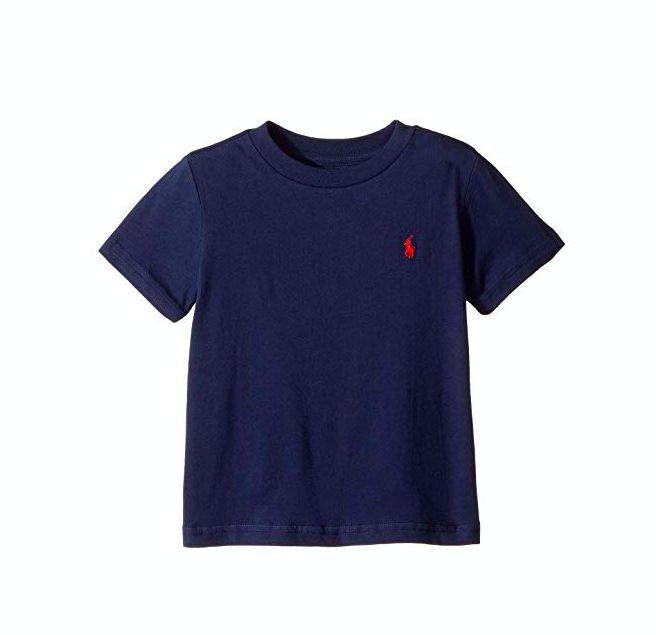 "POLO RALPH LAUREN - Camiseta Jersey Crewneck Baby ""Marinho"" (Infantil) -NOVO-"