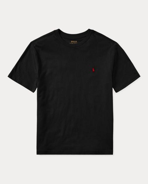 "POLO RALPH LAUREN - Camiseta Jersey Crewneck Juvenil ""Preto"" (Infantil) -NOVO-"