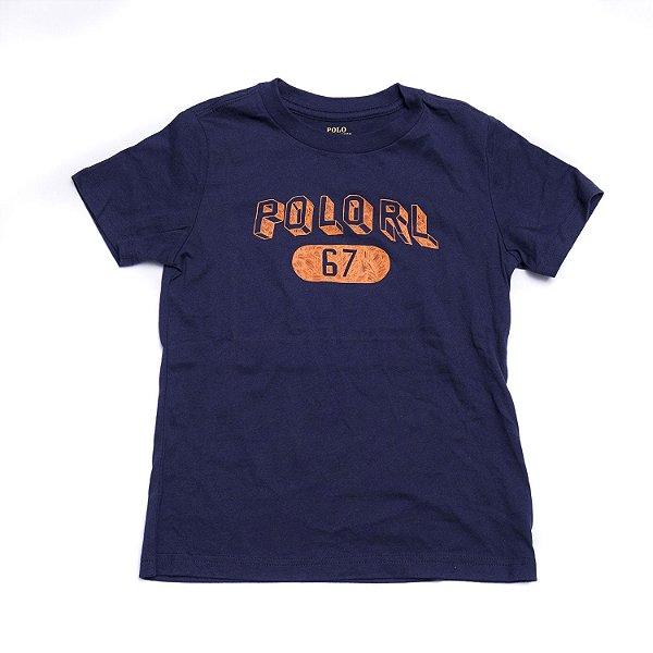 "POLO RALPH LAUREN - Camiseta Polo RL 67 ""Marinho"" (Infantil) -NOVO-"