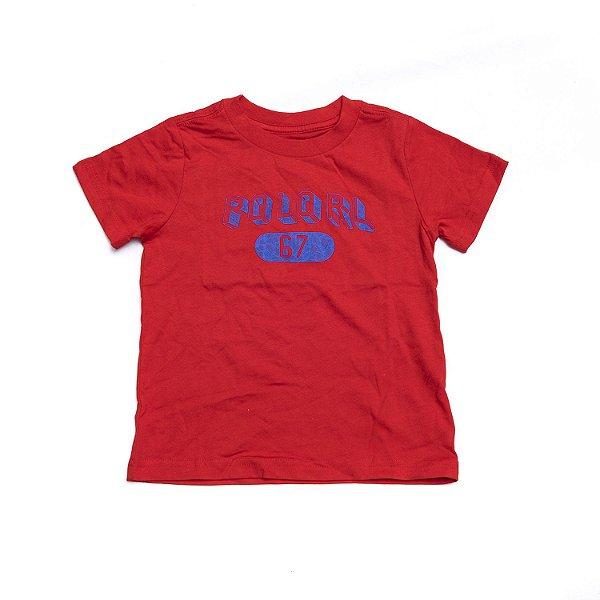 """POLO RALPH LAUREN - Camiseta Polo RL 67 """"Vermelho"""" (Infantil) -NOVO-"""