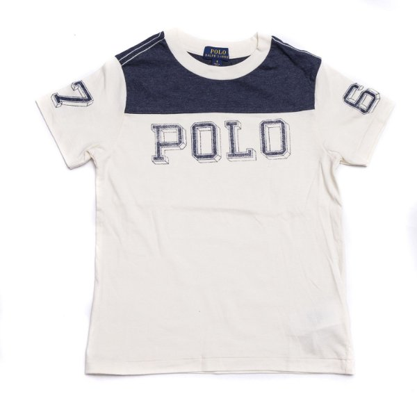 "POLO RALPH LAUREN - Camiseta Cotton Jersey Graphic ""Sand"" (Infantil) -NOVO-"