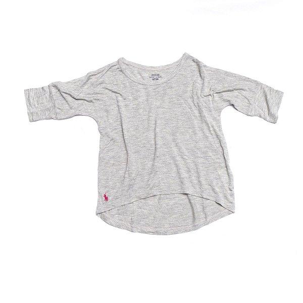 "POLO RALPH LAUREN - Camiseta Meia Manga ""Cinza"" (Infantil) -NOVO-"