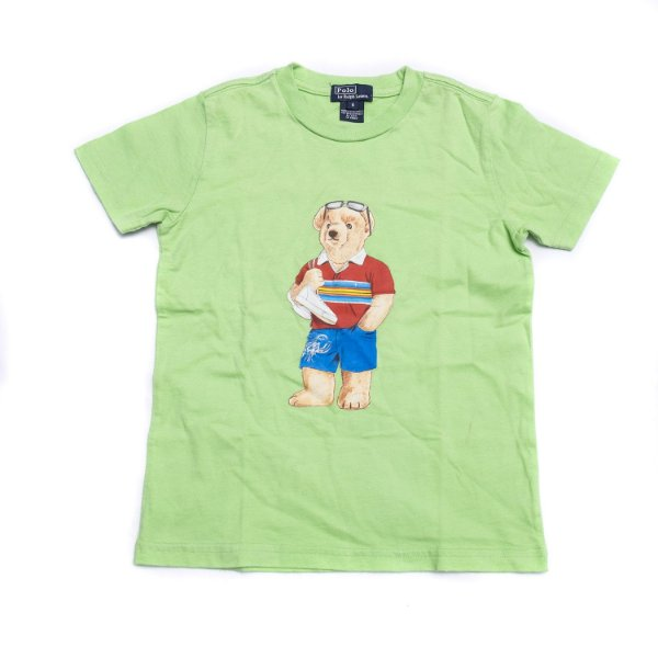"POLO RALPH LAUREN - Camiseta Polo Bear Summer Kids ""Verde"" (Infantil) -NOVO-"