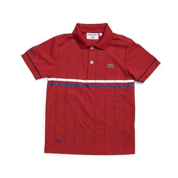 "LACOSTE - Camisa Polo Andy Roddick ""Vermelho"" (Infantil) -NOVO-"