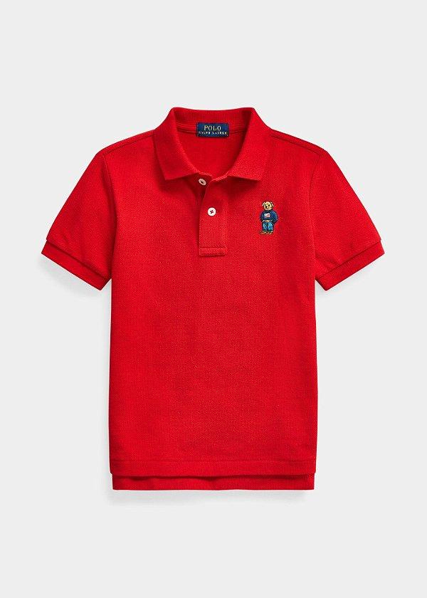 "POLO RALPH LAUREN - Camisa Polo Bear Cotton Mesh Baby ""Vermelho"" (Infantil) -NOVO-"