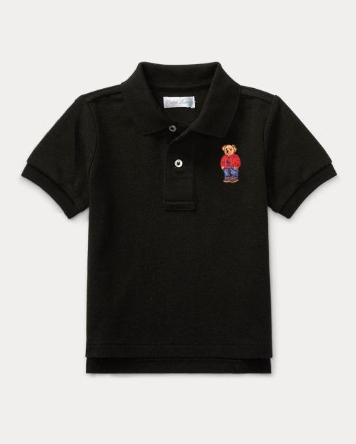 """POLO RALPH LAUREN - Camiseta Polo Bear Baby """"Preto"""" (Infantil) -NOVO-"""