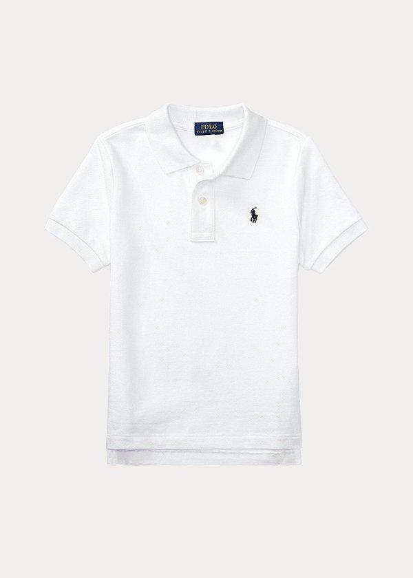 "POLO RALPH LAUREN - Camisa Polo Cotton Mesh Kids ""Branco"" (Infantil) -NOVO-"