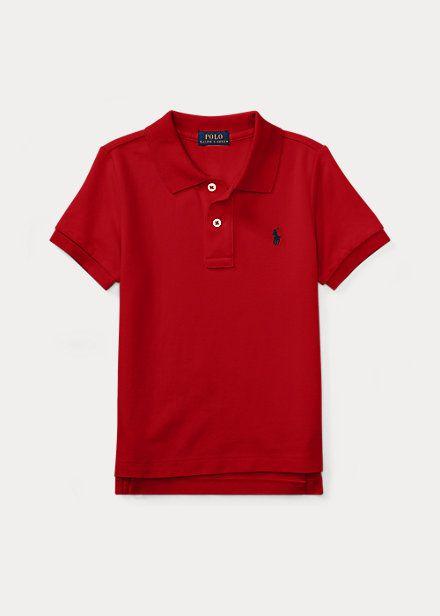 "POLO RALPH LAUREN - Camisa Polo Cotton Mesh Kids ""Vermelho"" (Infantil) -NOVO-"