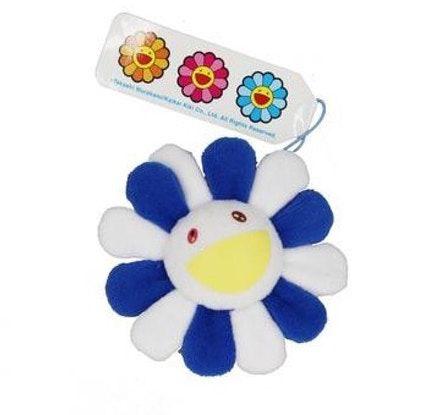 """KAIKAI KIKI - Pin Takashi Murakami Flower Plush """"Blue/White"""""""