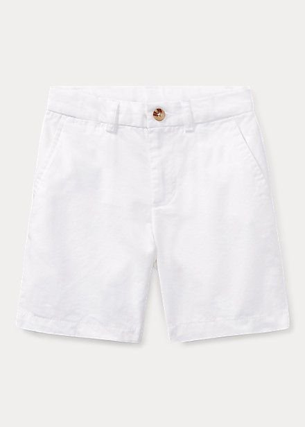 "POLO RALPH LAUREN - Bermuda Straight Fit Chino Kids ""Branco"" (Infantil) -NOVO-"