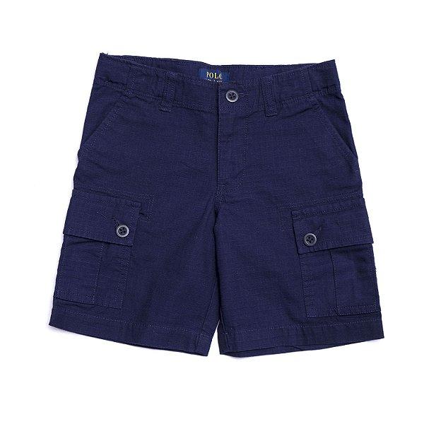 "POLO RALPH LAUREN - Bermuda Cotton Chino Cargo Kids ""Marinho"" (Infantil) -NOVO-"