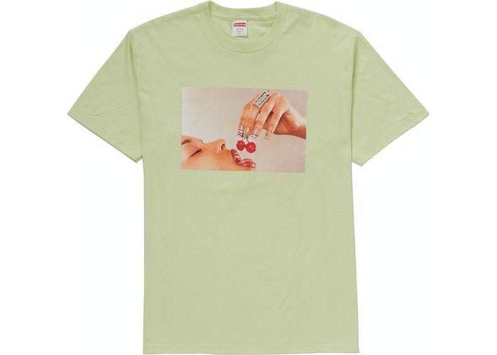 """SUPREME - Camiseta Cherries """"Menta"""" -NOVO-"""