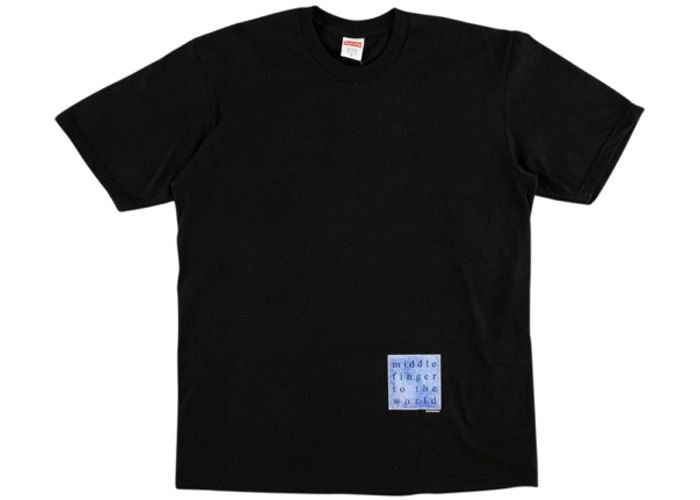 "SUPREME - Camiseta Middle Finger To The World ""Preto"" -NOVO-"