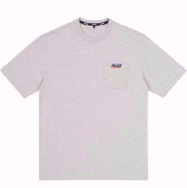 "PALACE - Camiseta Basically a Pocket ""Cinza"" -NOVO-"