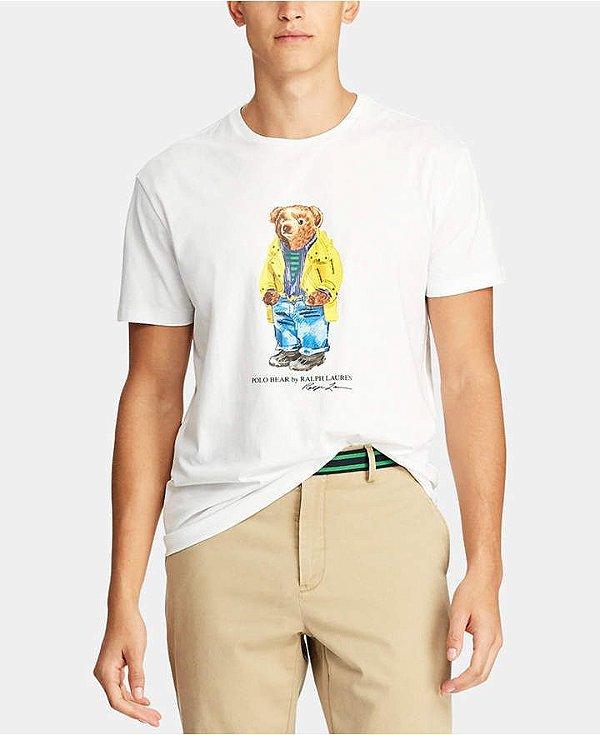 "POLO RALPH LAUREN - Camiseta Polo Bear Classic Fit ""Branco"" -NOVO-"