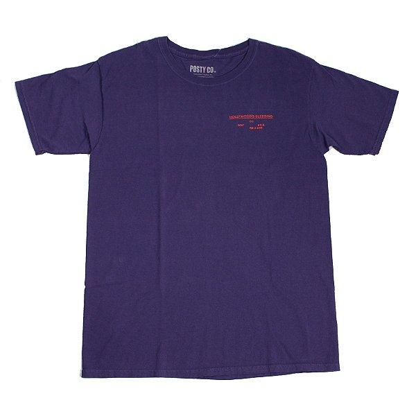 "POST CO. - Camiseta Post Malone Merch Hollywood's Bleeding ""Roxo"" -NOVO-"