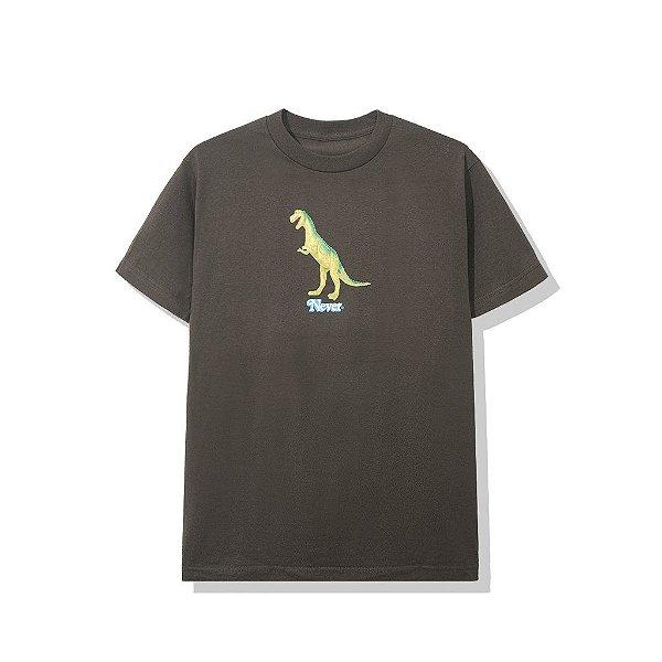 """ANTI SOCIAL SOCIAL CLUB - Camiseta Plastic T-Rex """"Marrom"""" -NOVO-"""