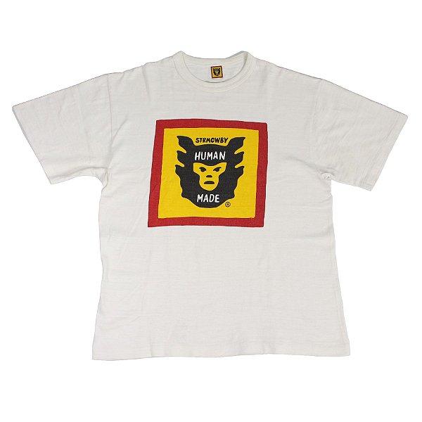 "HUMAN MADE - Camiseta STRMCWBY ""Branco"" -USADO-"