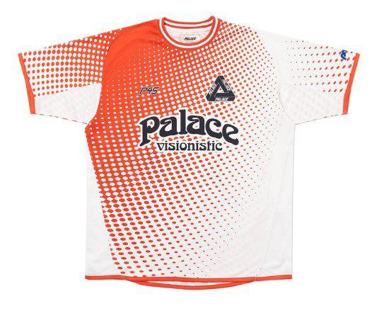 """PALACE - Camiseta Multi Option Footie Jersey """"Vermelho"""" -NOVO-"""