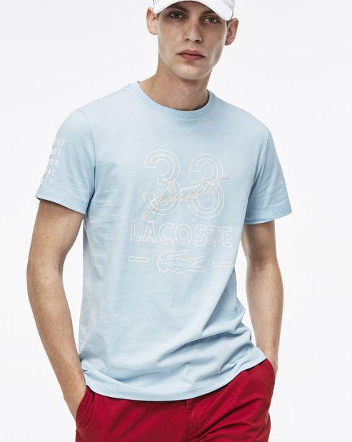 "LACOSTE - Camiseta Tribute to Rene 33 ""Azul"" -NOVO-"