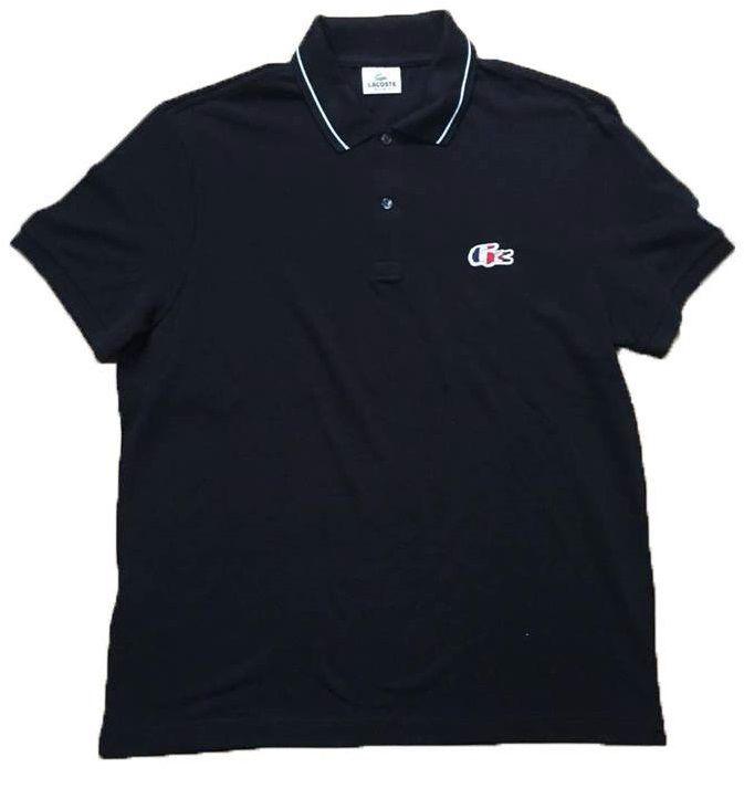 "LACOSTE - Camisa Polo Regular Fit France ""Azul Marinho"" -NOVO-"