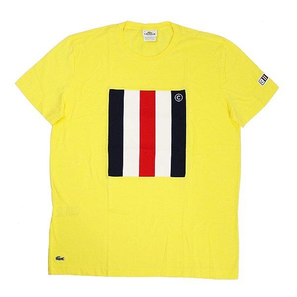 "LACOSTE - Camiseta Banner ""Amarelo"" -NOVO-"