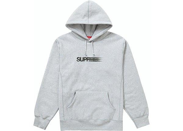 "SUPREME - Moletom Motion Logo ""Cinza"" -NOVO-"