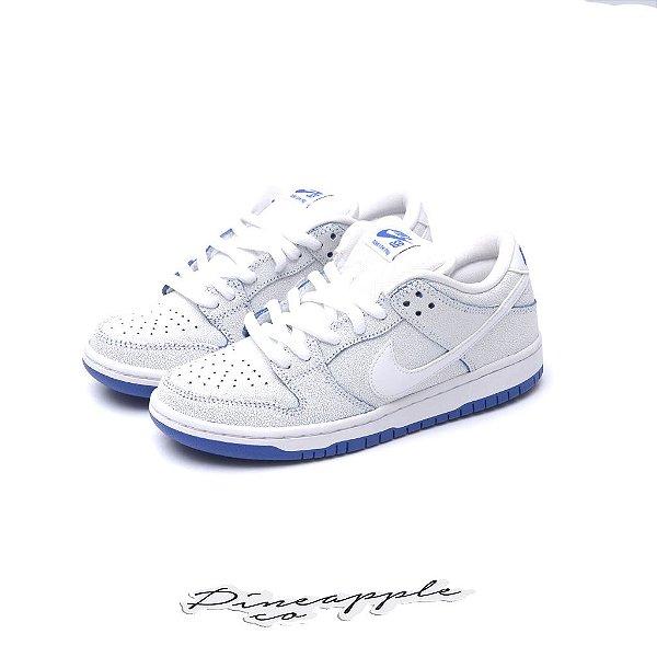 "NIKE - SB Dunk Low Premium ""White/Game Royal"" -NOVO-"