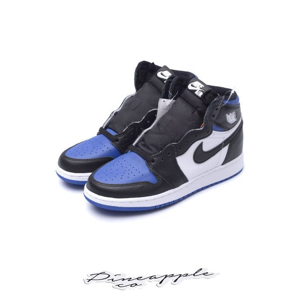 "NIKE - Air Jordan 1 Retro GS ""Royal Toe"" (Infantil) -NOVO-"