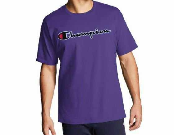 "CHAMPION - Camiseta Patch Logo ""Roxo"" -NOVO-"