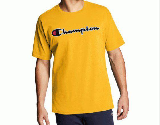 "CHAMPION - Camiseta Patch Logo ""Amarelo"" -NOVO-"