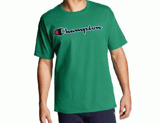 "CHAMPION - Camiseta Patch Logo ""Verde"" -NOVO-"