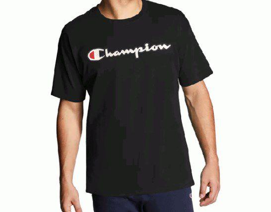 "CHAMPION - Camiseta Patch Logo ""Preto"" -NOVO-"