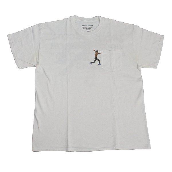 "TRAVIS SCOTT x VIRGIL ABLOH - Camiseta Merch ""Cactus Jack"" -USADO-"