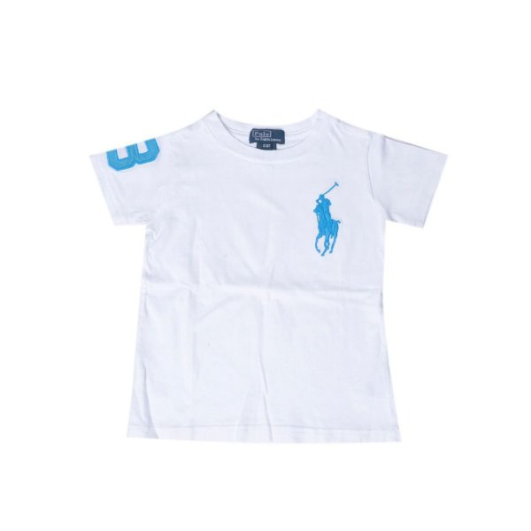 "POLO RALPH LAUREN - Camiseta Big Ponei ""Branco"" (Infantil) -USADO-"