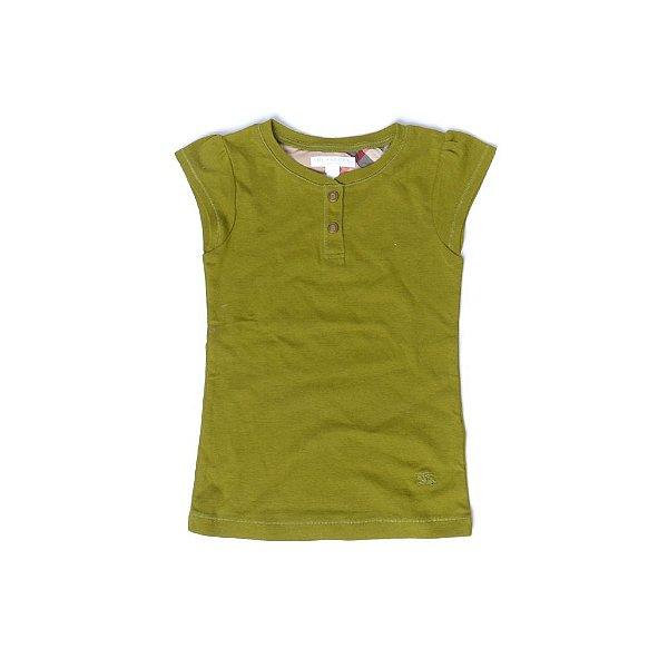 """BURBERRY - Camiseta Feminina """"Verde"""" (Infantil) -USADO-"""