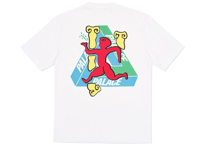"PALACE - Camiseta Dancing Man ""Branco"" -USADO-"