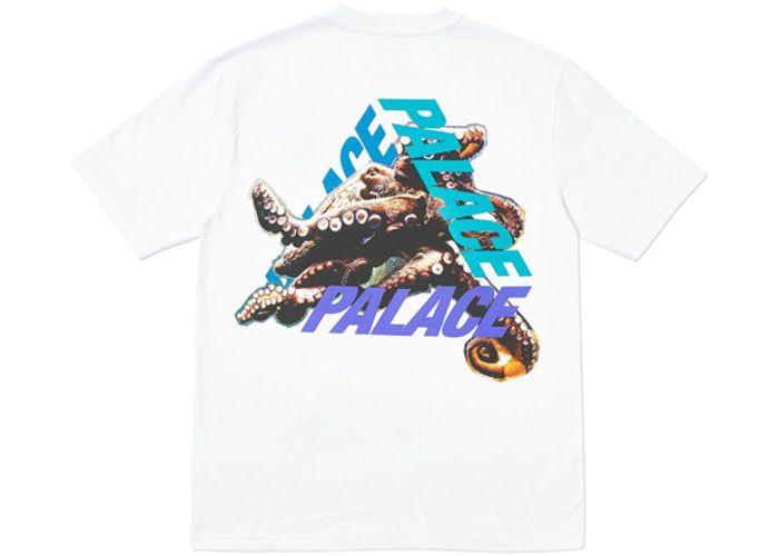 """PALACE - Camiseta Octo """"Branco"""" -USADO-"""