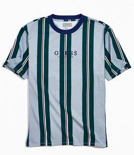 "GUESS - Camiseta Hotspur Stripe ""Cinza"" -USADO-"