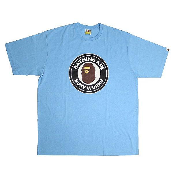 """BAPE - Camiseta Busy Works """"Azul"""" -USADO-"""