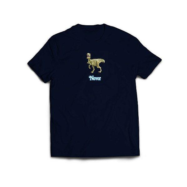 """ANTI FUGAZZI FUGAZZI CLUB - Camiseta Plastic T-Rex """"Azul Marinho"""" -NOVO-"""