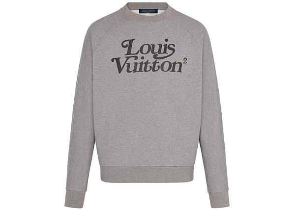 """LOUIS VUITTON x NIGO - Moletom Squared LV Gris Clair """"Cinza"""" -NOVO-"""